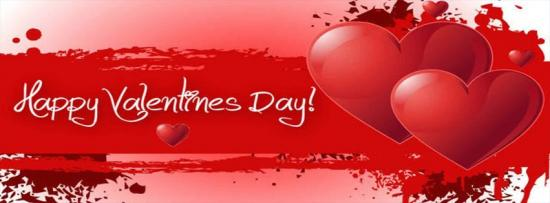 Couverture facebook saint valentin happy valentines day