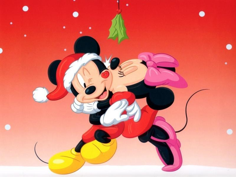 Mickey and minnie in love kiss mickey mouse kiss christmas hd pictures mickey mouse wallpapers