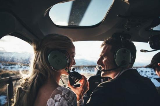 Mountaintop helicopter wedding 28 600x400